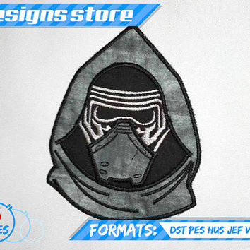 KYLO REN APPLIQUE embroidery design machine pattern Star Wars The Force Awakens