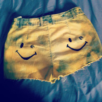 Dont Worry Be Happy Neon Yellow Acid Wash Raver by NUgeneration