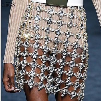 Crystal Diamonds Rhinestone Skirt