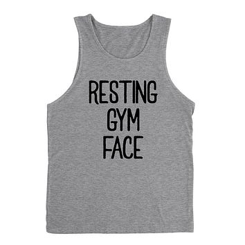 Resting gym face, funny workout, wrestling gift for her for him Tank Top
