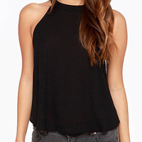 Halter Rivet Detail Back Top