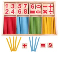 Baby Toys Wooden Blocks Montessori Educational Toys Mathematical Intelligence Stick Building Blocks Math Toy Gift