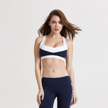 Sports Underwear Hollow Out With Steel Wire Jogging Yoga Sports Bra [10544461127]