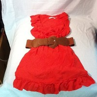 body central orange belted sundress Size Small