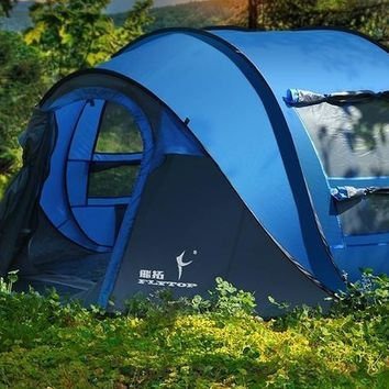 3 4 5 6 person automatic pop up quick open family outdoor camping tent