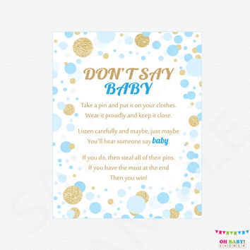 It's just a graphic of Don T Say Baby Free Printable with regard to diaper