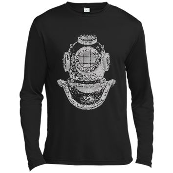 Big Texas Deep Sea Diver Helmet T-Shirt Long Sleeve Moisture Absorbing Shirt