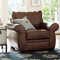 PEARCE LEATHER ARMCHAIR