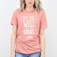 It is Well with My Soul S/L Tee {H. Sunset}