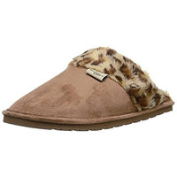 Western Chief Womens Cheetah Microfiber Indoor/Outdoor Scuff Slippers