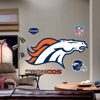 Fathead Denver Broncos Logo Wall Decal