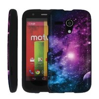 [ManiaGear] Design Shell Cover Case (Purple Galaxy ) for MOTO G
