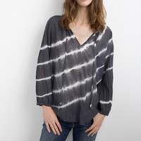 EDANA TIE DYE SILK COTTON VOILE PEASANT