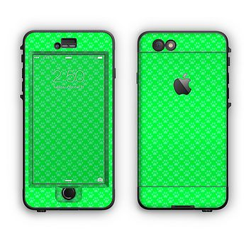 The Subtle Green Paw Prints Apple iPhone 6 Plus LifeProof Nuud Case Skin Set