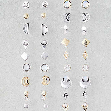 AEO Mixed Stone and Shapes 18-Pack , Mixed Metal