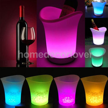Color Change LED Ice Bucket  Cooler Party  (3) Colors