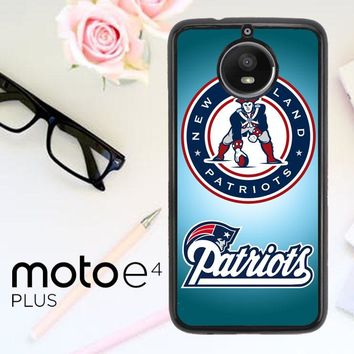 New England Patriots Logo E0788 Motorola Moto E4 Plus Case