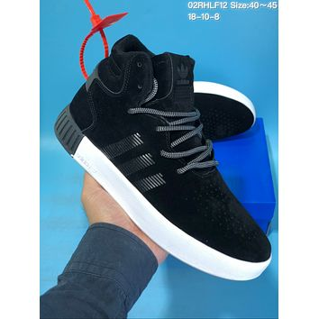 HCXX A421 Adidas Tubular Invade Yeezy 750 Hight Suede Skate Shoes Black