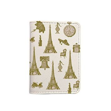Paris Effel Tower Passport Holder - Leather Passport Cover - Vintage Passport Wallet - Travel Accessory - Travel Wallet for Women and Men_LOKISHOP