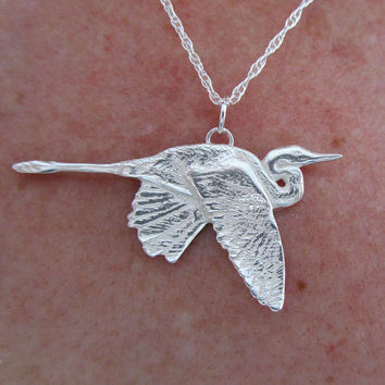 Heron Necklace (medium)