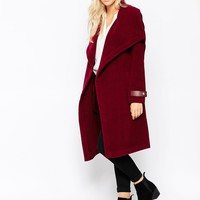 Oasis Two Tone Drape Wrap Coat