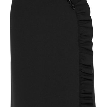 Simone Rocha - Embellished ruffled stretch-neoprene jersey skirt