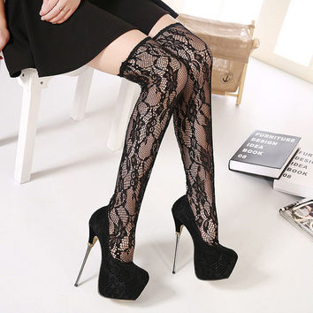 Lace High Heel Shoes = 4814680260