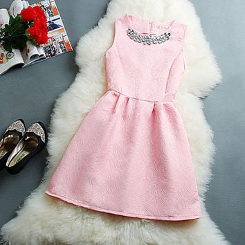 New Fashion Style Sleeveless Vest Princess Skirt Dress