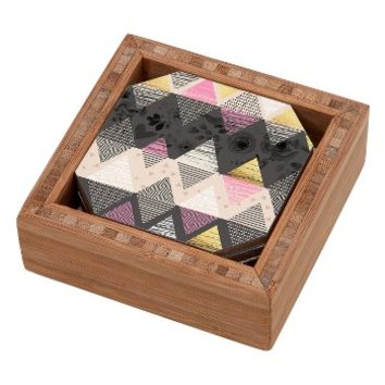 DENY Designs Geometric Coaster Set & Tray | Nordstrom