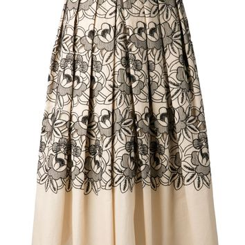 Tibi embroidered party skirt