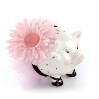 Mud Pie Baby Perfectly Princess Large Ceramic Piggy Bank
