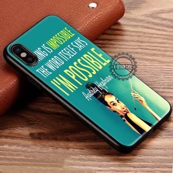 Audrey Hepburn Quote Vintage iPhone X 8 7 Plus 6s Cases Samsung Galaxy S8 Plus S7 edge NOTE 8 Covers #iphoneX #SamsungS8