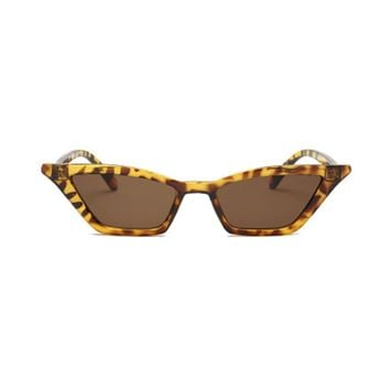 Leopard Print Frame Cat Eye Sunglasses