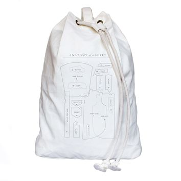 Anatomy of Shirt Laundry Bag