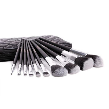 10Pcs Brush Set With Travel Case High Quality Softer Bristles