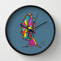 london eye Wall Clock by PINT GRAPHICS