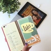 Book phone /iPhone flip Wallet case- Gilmore Girls-   iPhone 7, 6, 6 & 7 plus, 5, 5s, 5c, 4- Samsung Galaxy S7 S6, S5 , Note 4, 5, 7