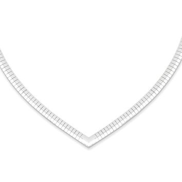 Sterling Silver 4mm Cubetto V-shaped Necklace