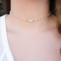 Moonstone Choker Necklace