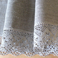 """Round Tablecloth Christmas Tablecloth Lace Tablecloth Linen Tablecloth Burlap Tablecloth Prewashed Linen Lace in diameter 59"""""""