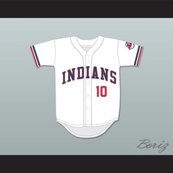 Eddie Harris 10 White Baseball Jersey Major League