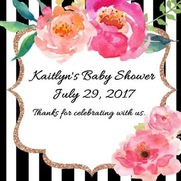 Kate Spade Baby Shower Stickers