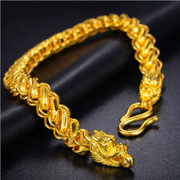 Authentic 24k Yellow Gold Men's Bracelet Real Heavy gold 19g