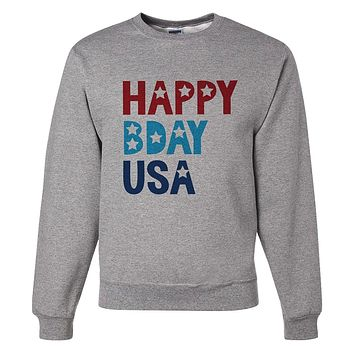 Custom Party Shop Unisex Happy Bday USA 4th of July Sweatshirt