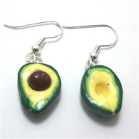 Avocado Polymer Clay Earrings by moonknightjewels on Etsy