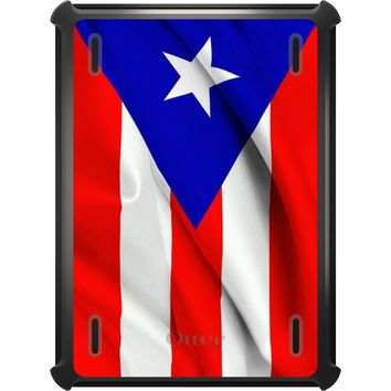 DistinctInk™ OtterBox Defender Series Case for Apple iPad - Red White Blue Puerto Rico Flag