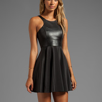 BLAQUE LABEL Fit and Flare Dress in Black
