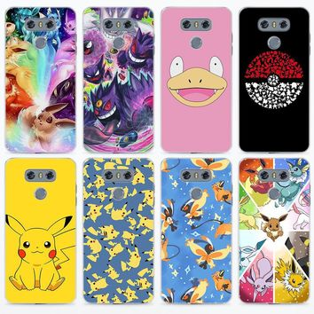 cartoon s eevee pika for LG g5 g6 v30 Transparent frame hard back phone Case Cover for LG V10 V20 V30 G5 G6 Q6 K8 K10 201Kawaii Pokemon go  AT_89_9