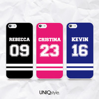 Jersey team Custom name number phone case for iPhone 6/4/4s/5/5s/5c, Samsung S5/Note4, Sony, LG Nexus, Nokia, HTC One, Moto - N40
