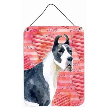 Harlequin Great Dane Love Wall or Door Hanging Prints BB9730DS1216